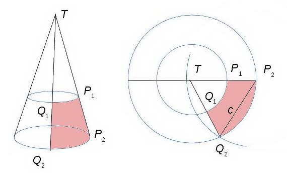 arean på en liksidig triangel